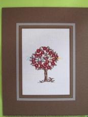 Passepartout-Stickbild-Baum