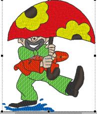 Clown mit Schirm