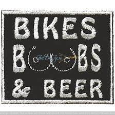 Aufnäher Bikes Boops and Beer