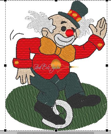 Clown auf Rad