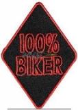 Aufnäher Patch 100% Biker klein
