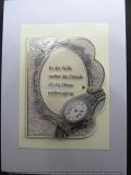 3-D-Grußkarte Uhr