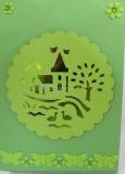 Grusskarte Dorf grün