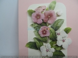 Blumengrusskarte 3-D-Motiv in rosa