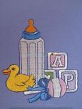 Passepartout-Stickbild Baby