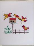 Passepartout-Stickbild - Zaun