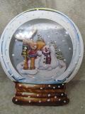 Schneekugel-Grußkarte