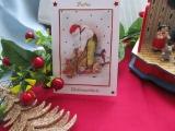 Weihnachtskarte mit Nikolaus- 3-D-Motiv