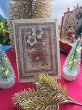 Weihnachtskarte mit Christrosen-3-D-Motiv