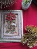 Weihnachtskarte mit Weihnachtsstern-3-D-Motiv