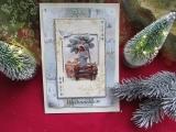 Weihnachtskarte mit Weihnachtsstern-3-D-Motiv Jesus mit Schafen
