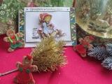 Weihnachtskarte mit Teddy-3-D-Motiv