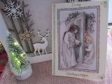 Weihnachtskarte mit Kinder-3-D-Motiv