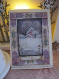 Weihnachtskarte mit Winterlandschafts-3-D-Motiv