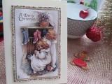 Weihnachtskarte mit Engelchen-3-D-Motiv