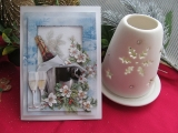Weihnachtskarte mit Sektflaschen-3-D-Motiv (copy)