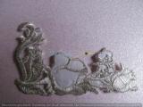 Silbergesticktes Bügelmotiv