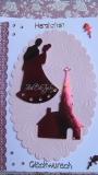 Hochzeitskarte mit Büttenrand